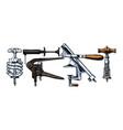 set corkscrews vector image vector image