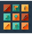 set hairdressing icons in flat design style vector image vector image