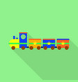 stars toy train icon flat style vector image