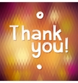 THANK YOU Lettering rewarding postcard vector image vector image