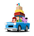 The family goes on vacation by car vector image vector image