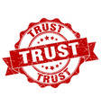 trust stamp sign seal vector image vector image