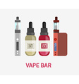 Vape device set Vaping juice for vape Vape trend vector image
