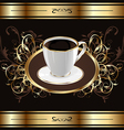 Vintage background for packing coffee coffee cup vector image vector image