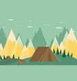 vintage background with forest mountains and hills vector image vector image