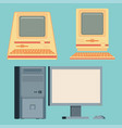 vintage personal computers set vector image
