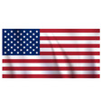waiving us flag vector image vector image