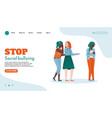 website page template to stop social bullying vector image vector image
