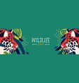 wildlife day web banner of leopard in jungle vector image vector image