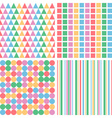 four abstract pastel colors seamless simple vector image