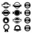 Retro round badges vintage labels set - vector image