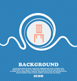 chair sign Blue and white abstract background vector image