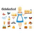 smiling bavarian woman blonde dressed in vector image