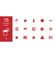 15 ui icons vector image vector image