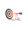 achievement aim skill concept sketch hand drawn vector image vector image