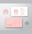 astra abstract logo and business card vector image vector image