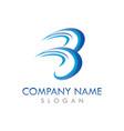 b wave logo vector image vector image