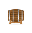 barrel icon wooden in brown vector image vector image