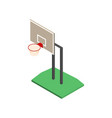 basketball shield with basket in isometric vector image vector image