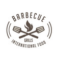 bbq barbecue grills international food imag vector image vector image