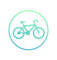 bicycle icon in circle on white cycling symbol vector image vector image
