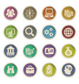 business management and human resources icon set vector image vector image