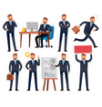 cartoon businessman business professional man vector image vector image