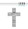 catholic icon design vector image