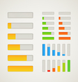 Charge bar collection vector image vector image