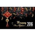 Chinese new year 2016 decoration firework night vector image vector image