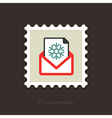 Christmas letter flat stamp vector image