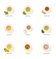 coffee beverage icons set cartoon style vector image vector image