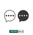 comment icon set isolated on white eps 10 vector image vector image