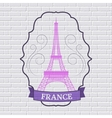 Country France set label template of emblem vector image vector image
