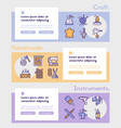 craft and handmade color icon set hobbies work vector image vector image