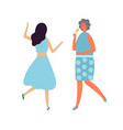 drunk woman with glass champagne dancing lady vector image