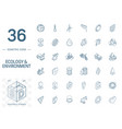 ecology and environmental isometric line icons 3d vector image vector image