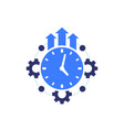 efficiency growth icon on white concept vector image vector image