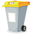 eyes inside trash bin vector image vector image