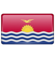 Flags Kiribati in the form of a magnet on vector image vector image