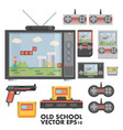 flat design concept of game environment tools and vector image