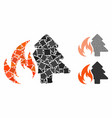 forest fire composition icon unequal parts vector image vector image