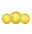 golden money coin vector image vector image