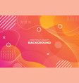 gradient abstract shape dynamic wavy line vector image vector image