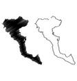 greek island corfu map vector image vector image
