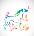 group of pets vector image vector image