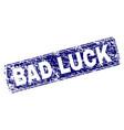 grunge bad luck framed rounded rectangle stamp