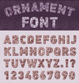 Hand drawn font vector image vector image