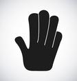 hand stop design vector image vector image