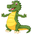 Happy cartoon crocodile posing vector image vector image